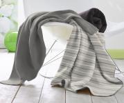 Baretti Wohndecke Streifen grau